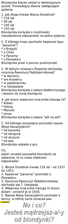 Quiz blondynka