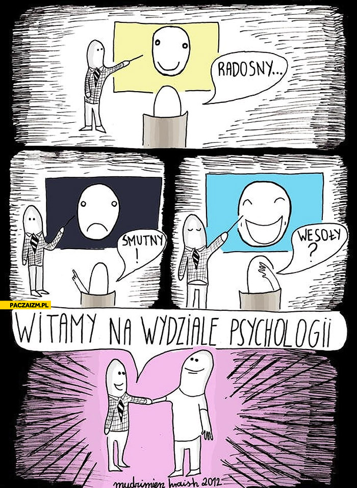 Radosny smutny wesoły witamy na wydziale psychologii