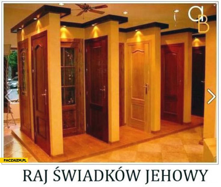 Raj świadków Jehowy sklep z drzwiami