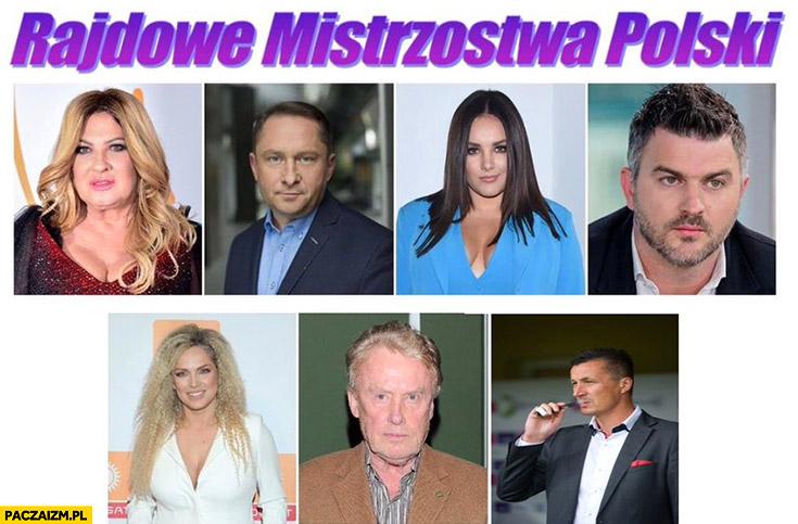 Rajdowe mistrzostwa polski Kozidrak, Durczok, Farna, Hajto, Olbrychski