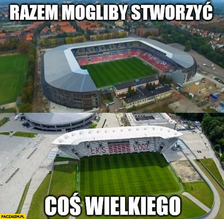 Razem mogliby stworzyć coś wielkiego stadion Górnik Zabrze ŁKS Łódź