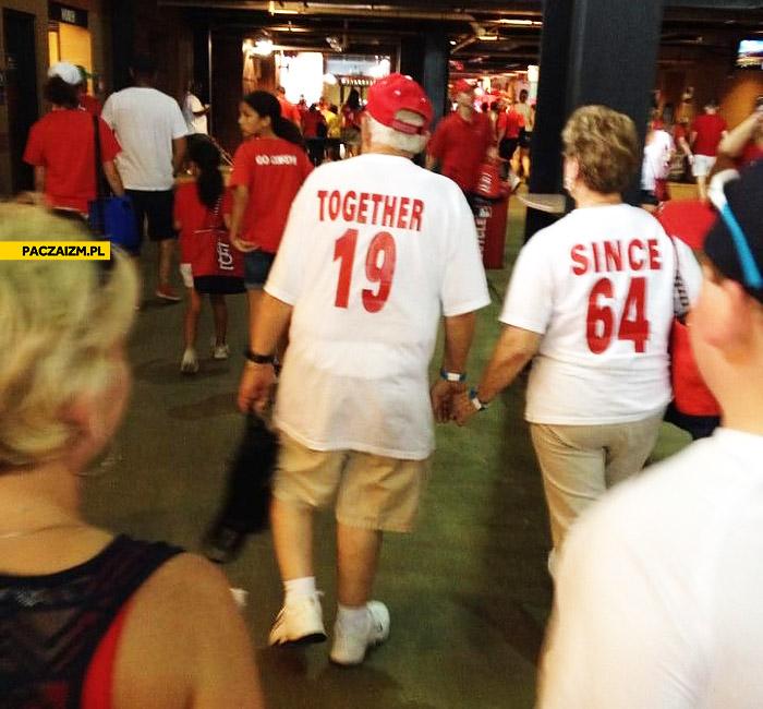 Razem od 1964 koszulki starsza para