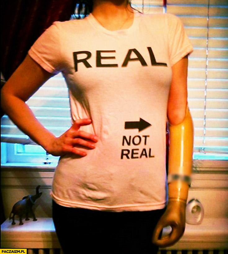 Real not real koszulka proteza