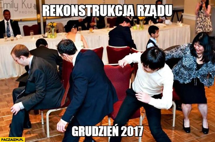 Rekonstrukcja rządu PiS grudzień 2017 gra w gorące krzesła
