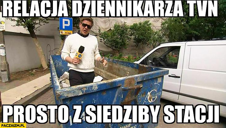 Relacja dziennikarza TVN prosto z siedziby stacji Filip Chajzer