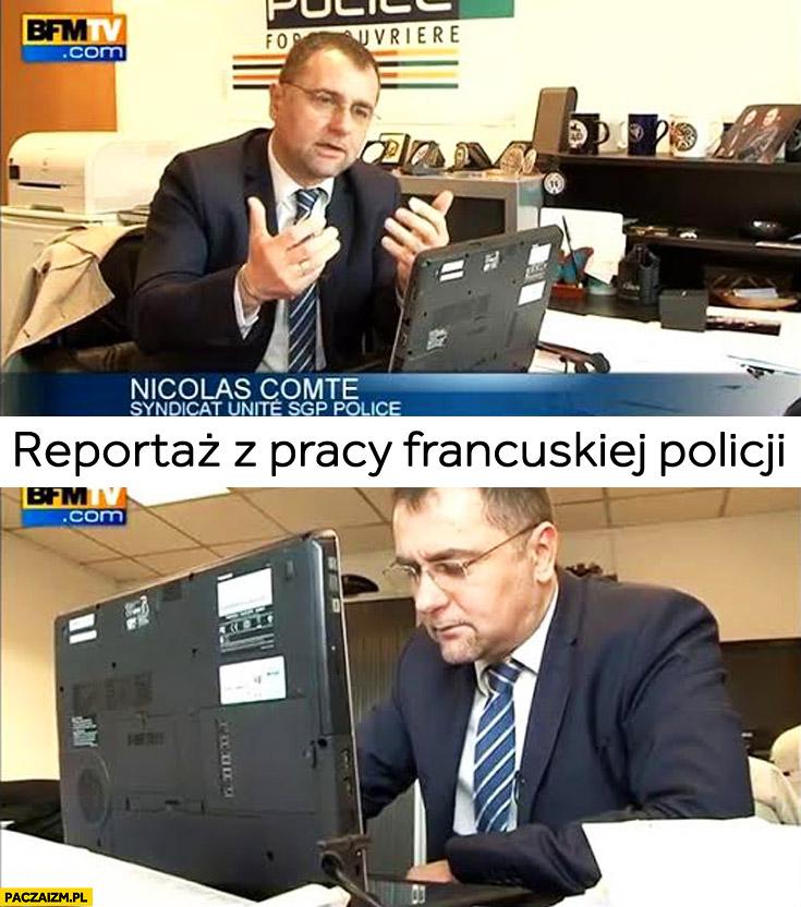 Reportaż o pracy francuskiej policji