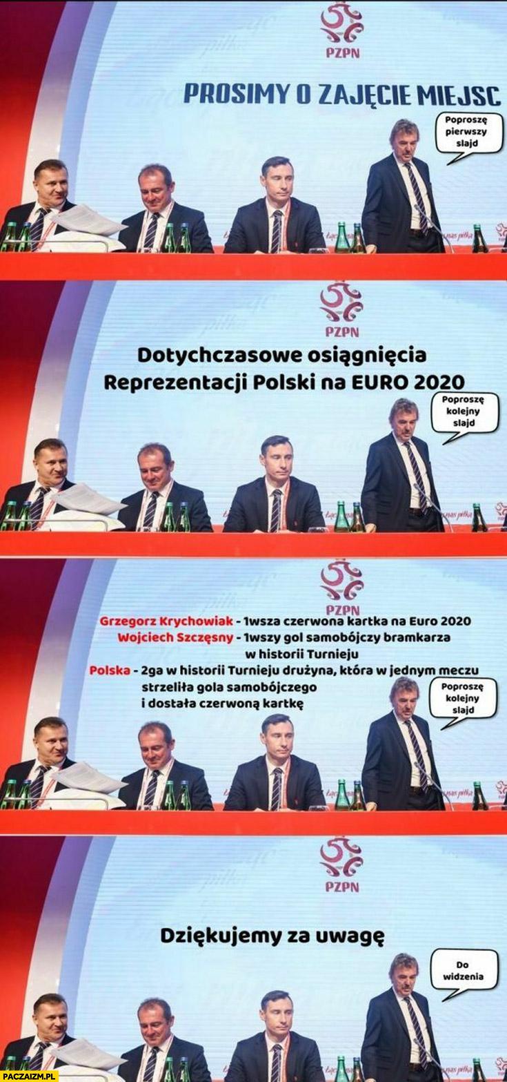 Reprezentacja polski dotychczasowe osiągnięcia Szczęsny pierwszy samobój w historii turnieju Krychowiak pierwsza czerwona kartka Boniek prezentacja
