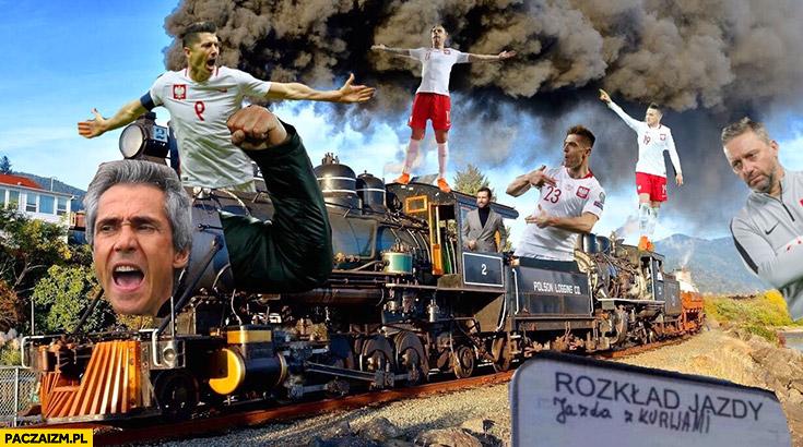 Reprezentacja polski lokomotywa pociąg przeróbka Paulo Sousa
