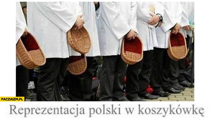Reprezentacja Polski w koszykówkę księża taca koszyki