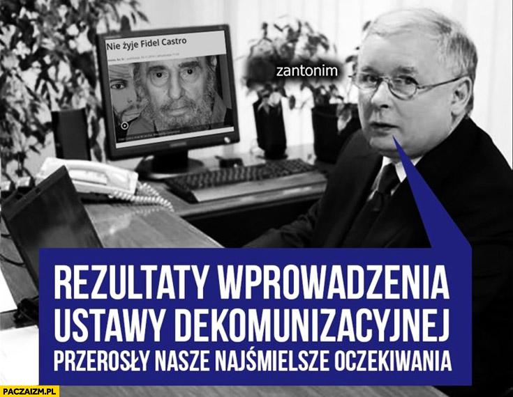 Rezultaty wprowadzenia ustawy dekomunizacynej przerosły nasze najśmielsze oczekiwania Fidel Castro Kaczyński