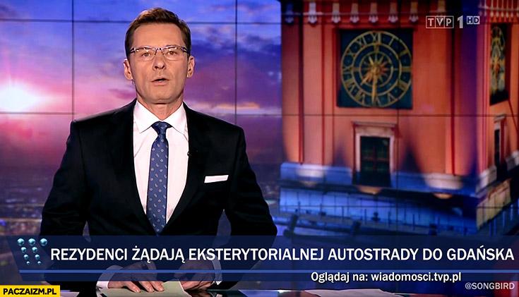 Rezydenci żądają eksterytorialnej autostrady do Gdańska pasek Wiadomości TVP