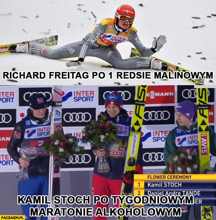 Richard Freitag po 1 Reddsie malinowym vs Kamil Stoch po tygodniowym maratonie alkoholowym