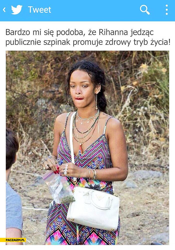 Rihanna szpinak marihuana