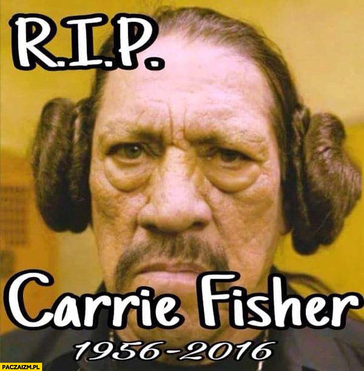 RIP Carrie Fisher Maczeta Machete fryzura jak Leia