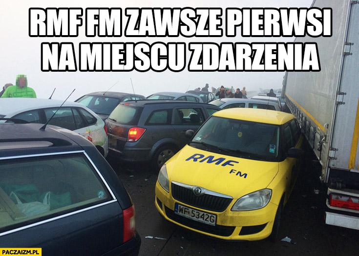 RMF FM zawsze pierwsi na miejscu zdarzenia karambol na Śląsku