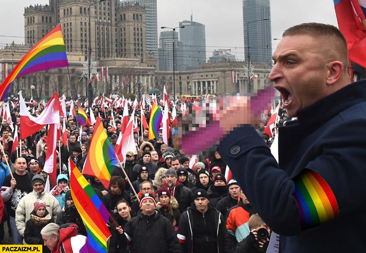 Robert Bąkiewicz przeróbka LGBT marsz niepodległości