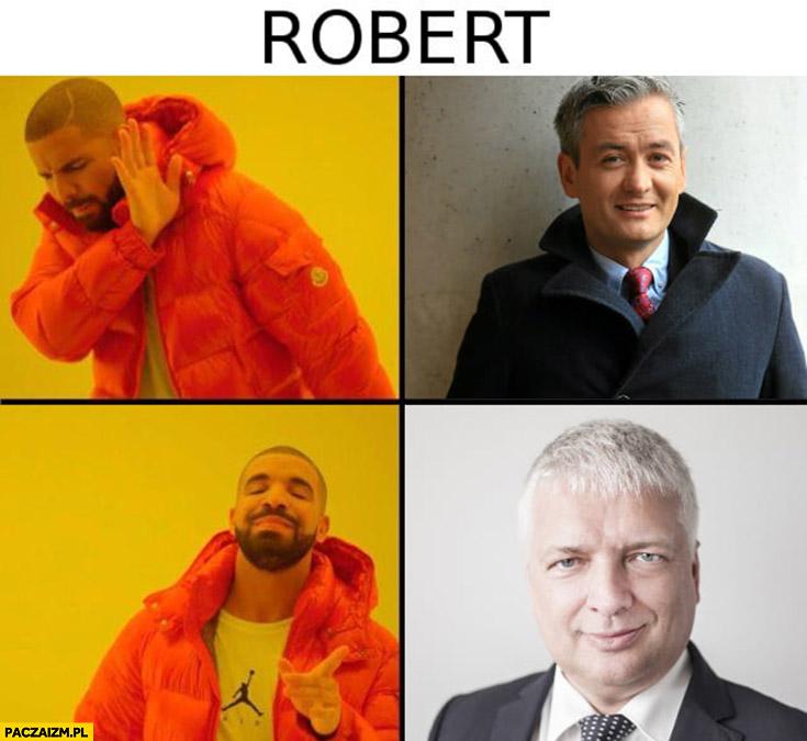 Robert Biedroń nie chce woli Roberta Gwiazdowskiego Drake