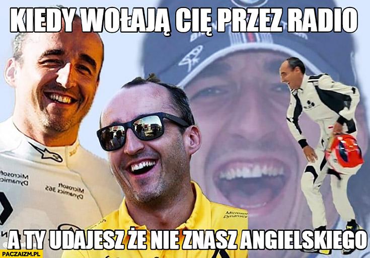Robert Kubica kiedy wołają Cię przez radio a Ty udajesz, że nie znasz angielskiego