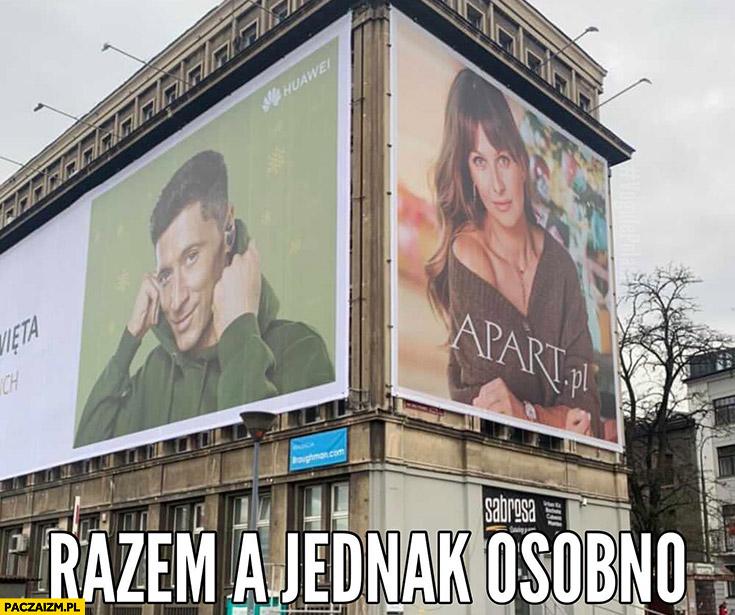 Robert Lewandowski, Anna Lewandowska razem a jednak osobno reklamy billboardy Apart
