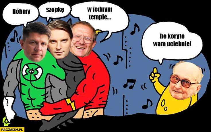 Róbmy szopkę w jednym tempie bo koryto wam ucieknie Petru, Lis, Michnik, Jaruzelski