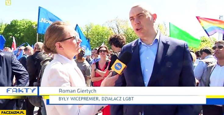 Roman Giertych były wicepremier działacz LGBT Fakty TVN