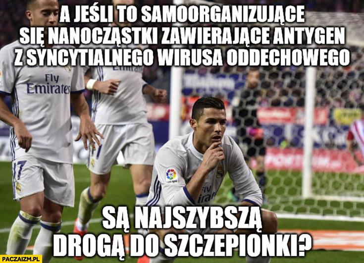 Ronaldo wymyśla lek szczepionkę na koronawirusa
