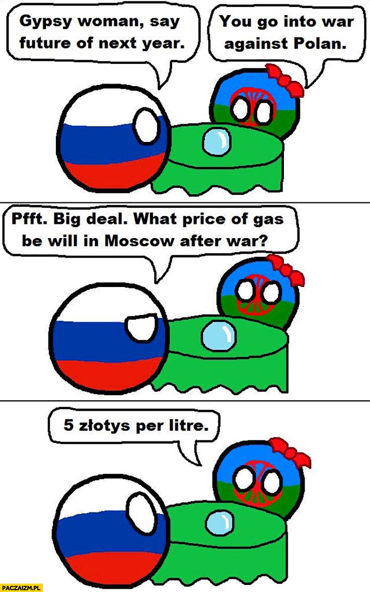 Rosja u wróżbitki: jaka cena paliwa w Moskwie po wojnie? 5 złotych za litr Polandball