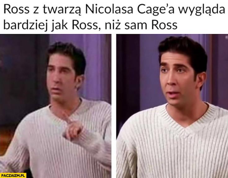Ross z twarzą Nicolasa Cage wygląda bardziej jak Ross niż sam Ross