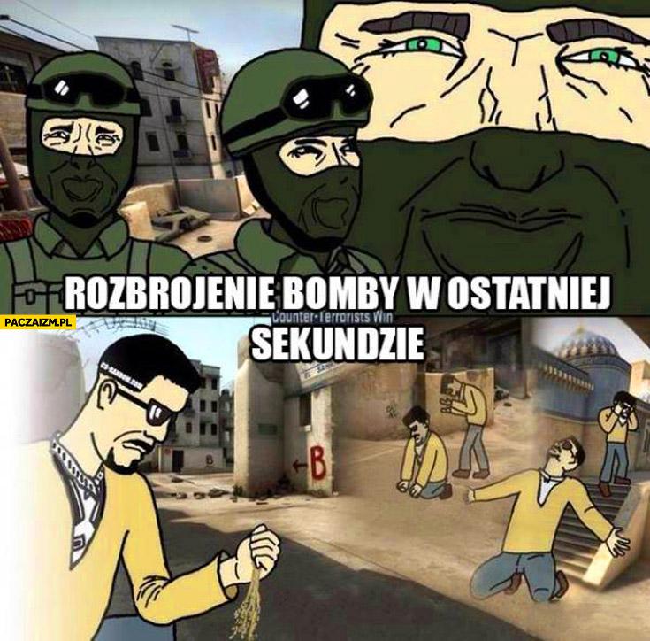 Rozbrojenie bomby w ostatniej sekundzie