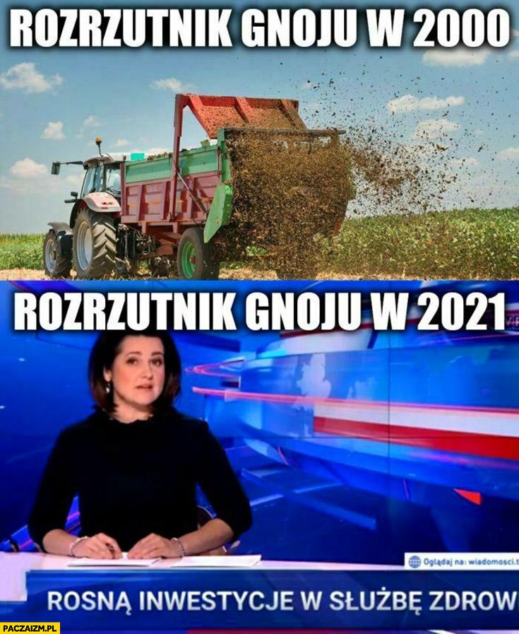 Rozrzutnik gnoju w 2000 roku vs w 2021 wiadomości TVP