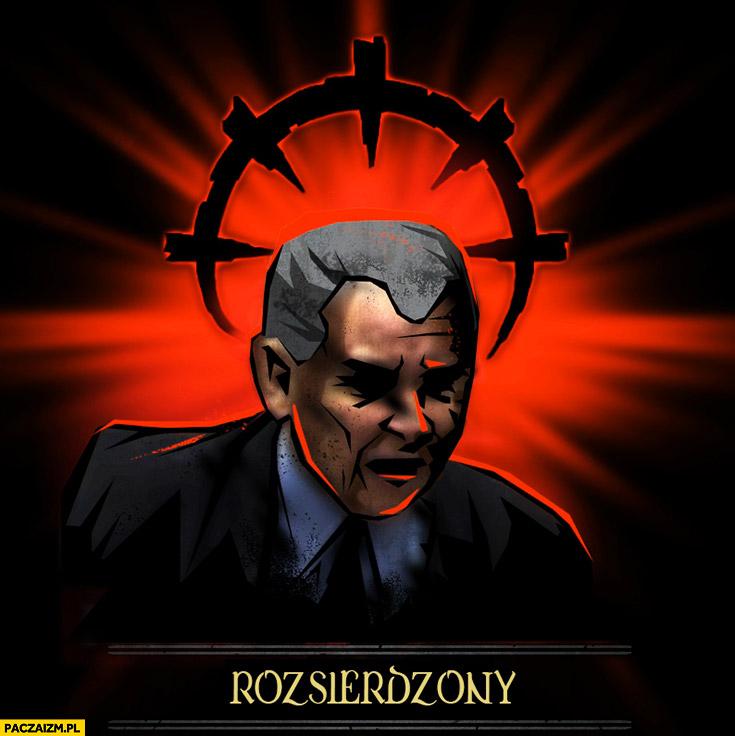 Rozsierdzony Jarosław Kaczyński przeróbka