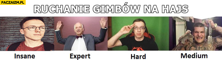 Ruchanie gimbów na hajs: Krzysztof gonciarz poziom insane, Korwin, Gimper, Popek
