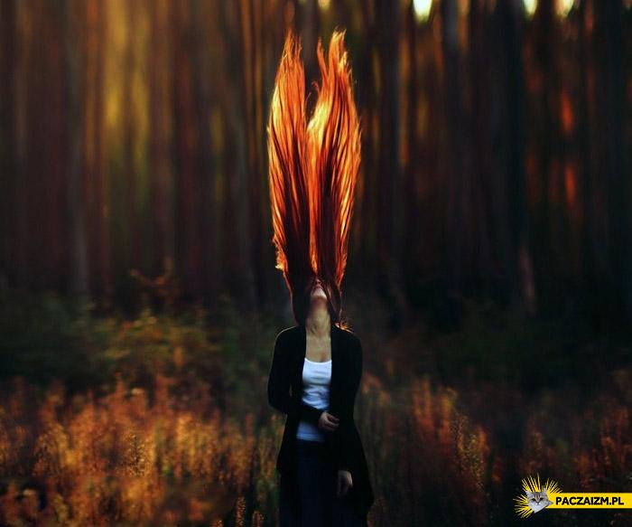 Rude włosy jak ogień