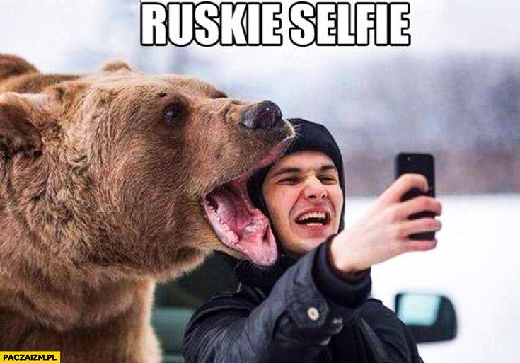 Ruskie selfie z niedźwiedziem