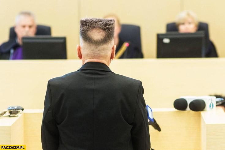 Rutkowski fryzura od tylu z tyłu kwadrat łyse kółko koło okrąg