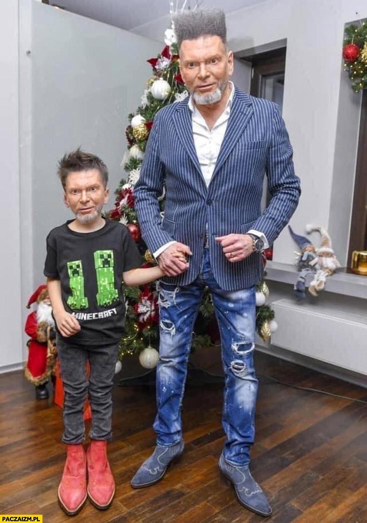 Rutkowski z synem faceswap