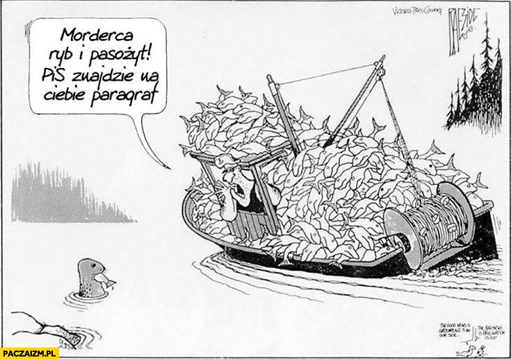 Rybak do foki: morderca ryb i pasożyt, PiS znajdzie na Ciebie paragraf