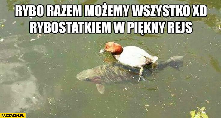 Rybo razem możemy wszystko rybostatkiem w piękny rejs kaczka na rybie