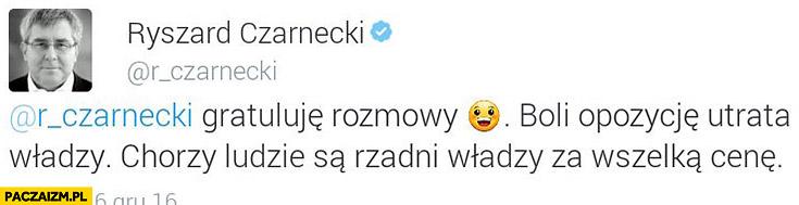 Ryszard Czarnecki sam sobie gratuluje na twitterze zapomniał się przelogować PiS Prawo i Sprawiedliwość