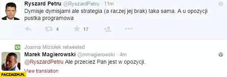 Ryszard Petru u opozycji pustka programowa przecież Pan jest w opozycji