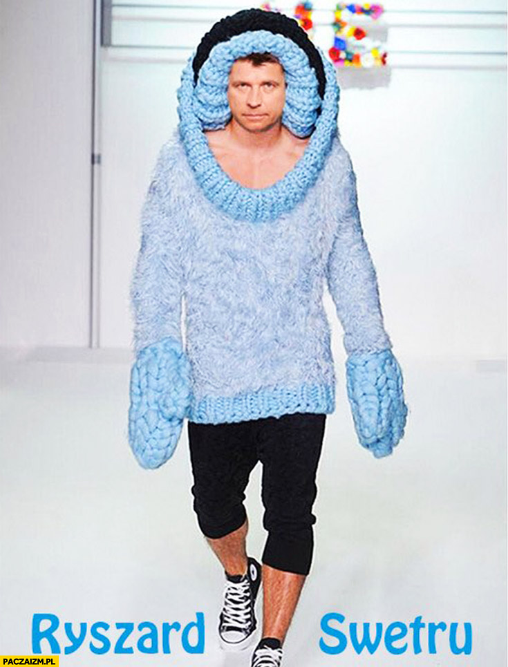 Ryszard Swetru Petru na wybiegu mody