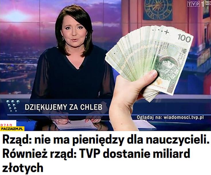 Rząd nie ma pieniędzy dla nauczycieli, również rząd: TVP dostanie miliard złotych