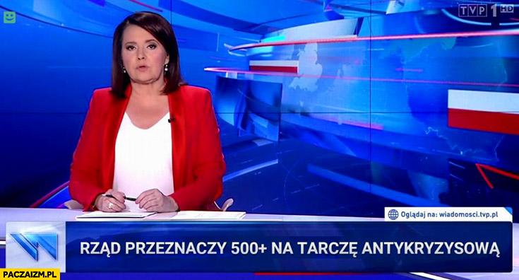 Rząd PiS przeznaczy 500 plus na tarczę antykryzysową pasek Wiadomości TVP