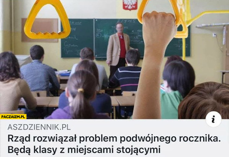 Rząd rozwiązał problem podwójnego rocznika będą klasy z miejscami stojącymi