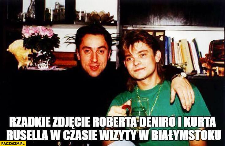 Rzadkie zdjęcie Roberta DeNiro i Kurta Russela w czasie wizyty w Białymstoku Miller Martyniuk