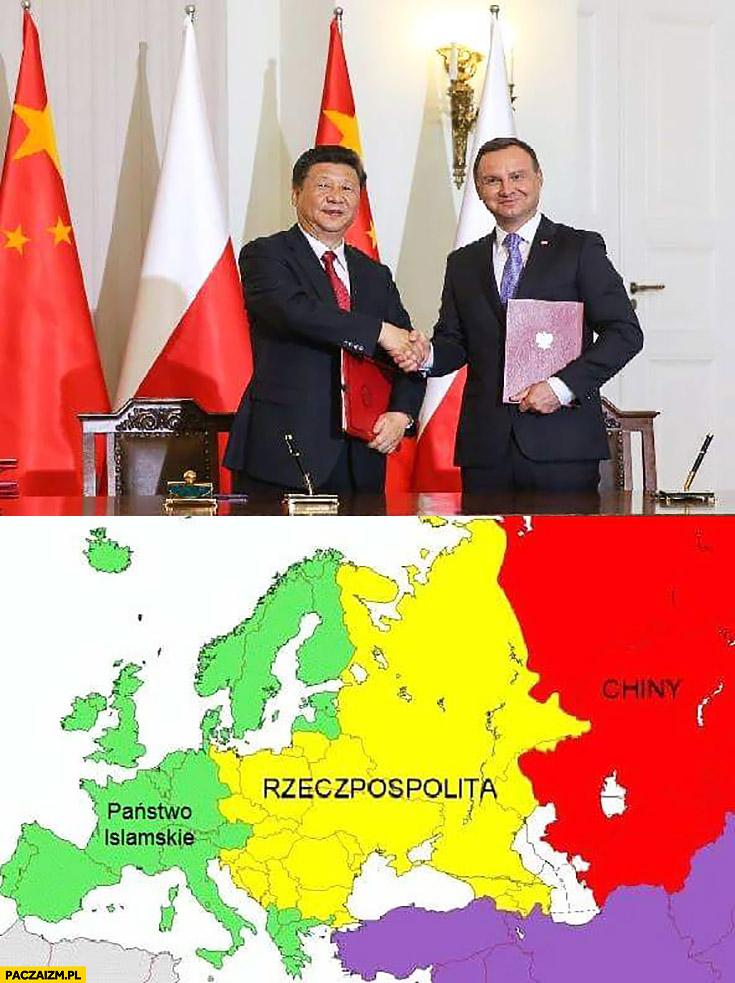 Rzeczpospolita Chiny państwo islamskie Andrzej Duda porozumienie z Chinami