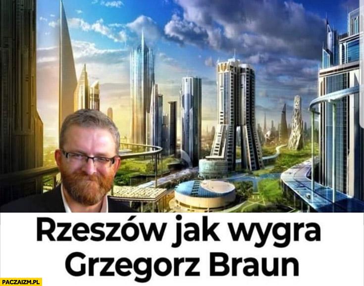 Rzeszów jak wygra Grzegorz Braun miasto przyszłości