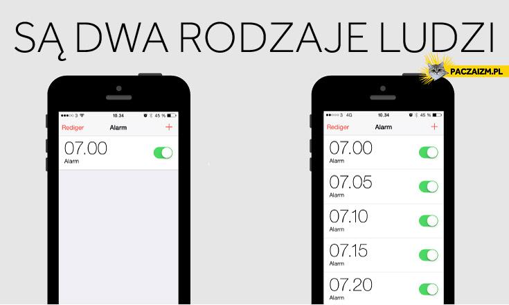 Są dwa rodzaje ludzi budzik