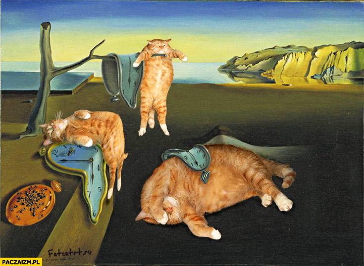 Salvador Dali zegary koty trwałość pamięci