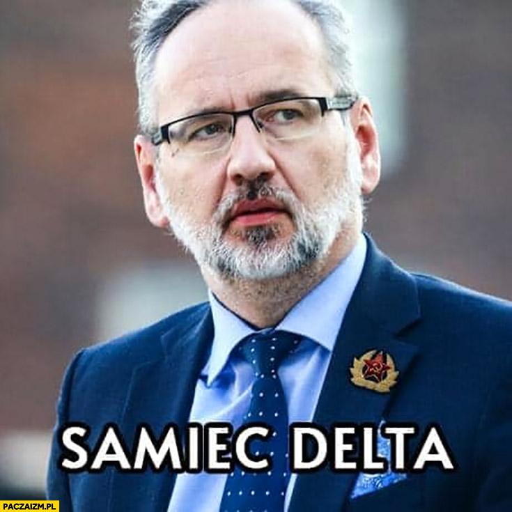 Samiec delta Niedzielski minister zdrowia